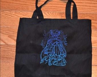 Thor and Loki Embroidered Tote Bag