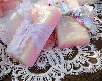 Coconut Milk Soap, Moisturizing,  Shea Butter Soap, Vintage Fabric, Handmade Soap, Mango Butter,  Handmade Gift, Mom Gift, Her Gift, Teacher