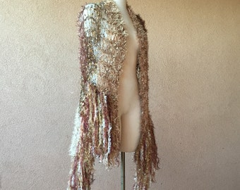 Fall Wedding Wrap, Fall Wrap, Fall Shawl, Fall Bridal Accessories, Autumn Bridal Cape in Gold, Bronze, Copper, Brown