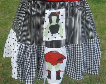 Zombie Polka Dot  Gothic Lolita  Skirt by Erikas Chiquis