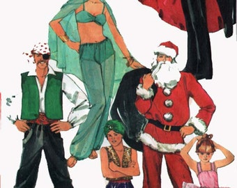 1980s Belly Dance Vampire Santa Pirate Genie Harem Girl Ballerina Costume McCalls 2622 Adult Costumes Sewing Pattern Size Large 40-42 UNCUT