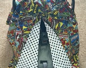 Made-to-order MARVEL Avengers Superheroes Reversible Carseat Canopy in your choice of prints! Fully customizeable listing!