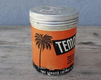 Dutch Vintage Medicine Tin 1974 Made in Holland - Hindu Medicine Temoe Lawak