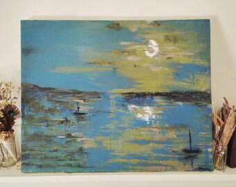 Moonlight Serenade Original Acrylic Painting