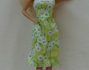 "11.5"" handmade doll dress with shoes"