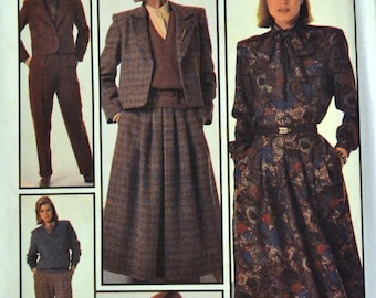 Vintage Sewing Pattern Simplicity 7034 Go Everywhere Separates Size 10 Bust 32.5 Inches UNCUT Complete