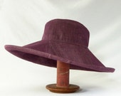 Floppy Hat in Purple Denim - Womens Hats, Summer Beach Hat, Floppy Sunhat, Heathered Purple, Summer Fashion, Summer Style, Garden Party
