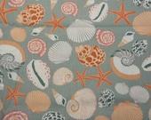Seashell Kanvas fabric sage green - 2 yards