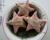 Primitive star ornie bowl filler tuck christmas star