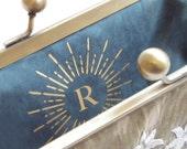 Custom monogram, wedding initials, message label, bridesmaid present, custom lettering