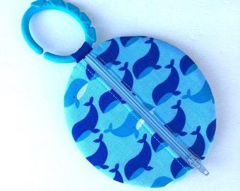 Paci Pod Boy Pacifier Pouch Blue whale