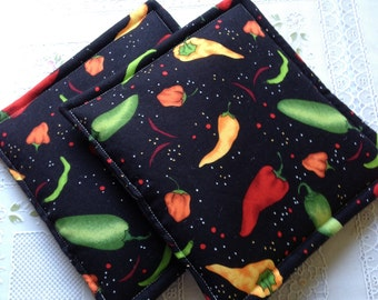 Red Hot Chilie Pepper Potholders Set of 2
