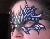 Fairy Fabulous Mask, Purple/Pink Iridescence, Labyrinth of Jareth, Fantasy Costume, Masquerade, Costume, Cosplay, LARP