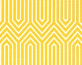 CLEARANCE!! 1 yard Premier Prints Fabric - 1 yd - Corn Yellow Trail - Premier Prints Trail Geometric Yellow and White Home Decor Slub Fabric