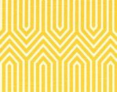 CLEARANCE!! 1 yard Premier Prints Fabric - 1 yd - Corn Yellow Trail - Premier Prints Trail Geometric Yellow and White Home Decor Slub Fabric