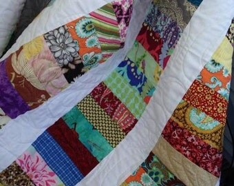 Stacked Coins Lap Quilt