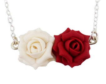 Double Rose Necklace - Two Roses Jewelry
