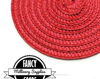 1 - Red - Straw - Fascinator - Hat Base - Hat Disk - Hat Foundation - Millinery