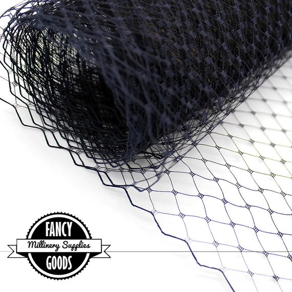 1 Yard - Navy Blue - Russian / French Veiling - Netting