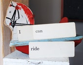Vintagedick and Jane Flash Cards I Can Ride Photo Prop Set School Word Cards