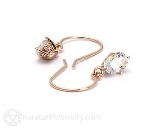 White Topaz Filigree Earrings White Topaz Earrings Drops Dangles Custom Gemstone Earrings Bridal Jewelry Bride Gift