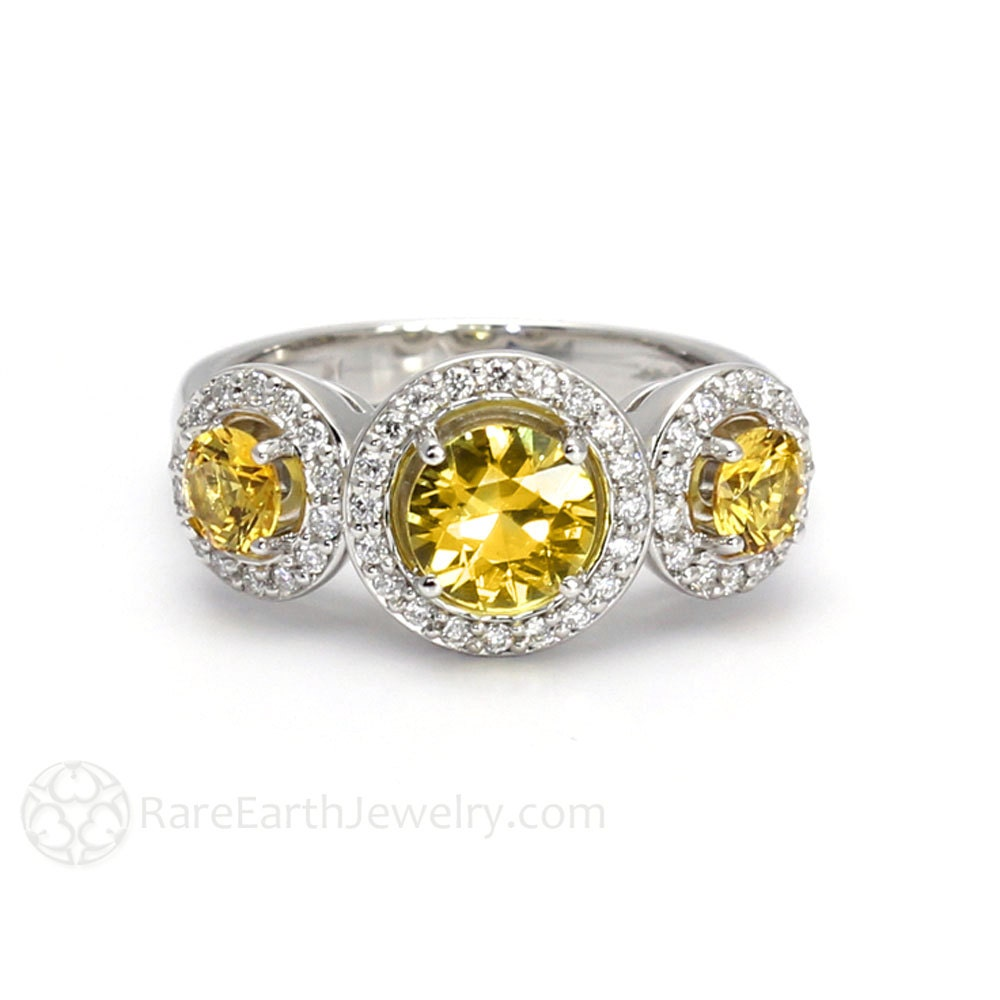 yellow sapphire ring sapphire engagement ring 3 unique