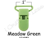 10 KAM Plastic Paci Pacifier - Suspender Clips / Bib Holder Clips - 1 Inch Meadow Green - plus Instructions - SEE COUPON