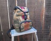 Vintage Pendleton Backpack vintage Indian wool backpack 90s mini backpack