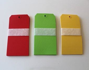 Large Gift Tags Paper Tags Set of 10 Your Choice of Color
