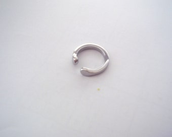 Stainless steel thumb ring- smooth and sturdy-size 9-free shipping