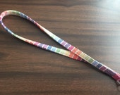 Woven Wrap Scrap Lanyard-  Girasol Avalon Rainbow