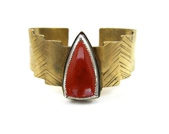 Red Jasper Shield Cuff