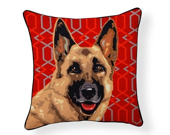 Pooch Décor: German Shepherd Pillow
