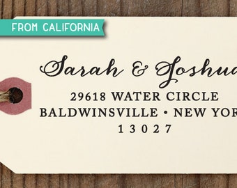 CUSTOM ADDRESS STAMP with proof from usa, Eco Friendly Self-Inking stamp, rsvp address stamp, library stamp, calligraphy designer stamp 66