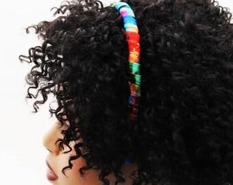 Headband, Natural Hair Headband, Hair Accessories, Hair Jewelry, Natural Hair, Hair Decor, Island Girl Fabric Headband