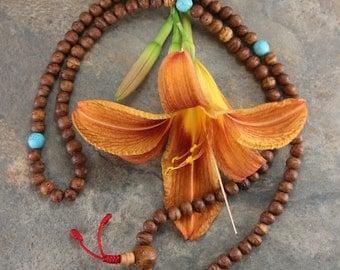 Raktu Seed and Turquoise 108 Mala