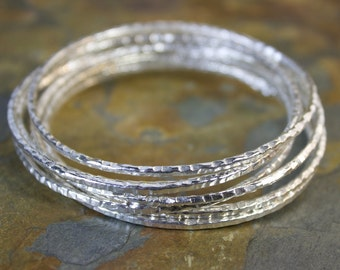 Silver Stackable Bangle