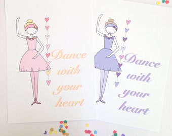 Illustration Print- Dance With Your Heart