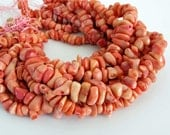 Peachy Pink Coral Beads, Bamboo Coral, 16 Inch Full Strand, Freeform Coral Beads, Coral Nuggets, Cor204