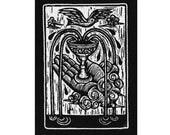 Tarot card sew on punk patch - Ace of Cups, Tarot Card Punk Patch