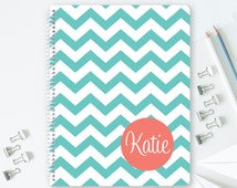 Personalized Spiral Notebook - Monogrammed School Supplies - Pick Your School Colors and Monogram Notebook