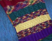 hand knit sampler shawl, wrap lap robe
