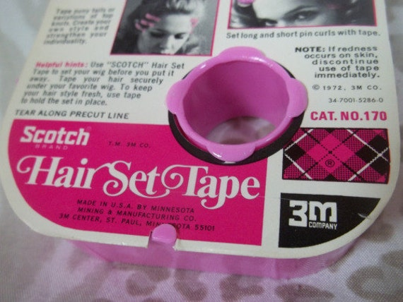 hair styling tape vintage scotch 3m hair set hair styling product styles 1329 | il 570xN.791998780 j6cb