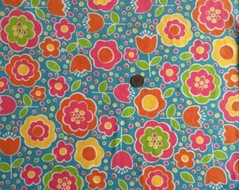 NEW Flap Happy tulips on cotton Lycra  knit fabric 1 yard