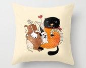 Animal pillow cover, animals home decor, cute children pillow