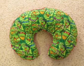 Teenage Mutant Ninja Turtle minky backed EMIJANE Nursing pillow cover - fits Boppy