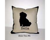 SHIH TZU Personalized Pillow - One of a Kind, Handmade, Custom - 4 Designs Available