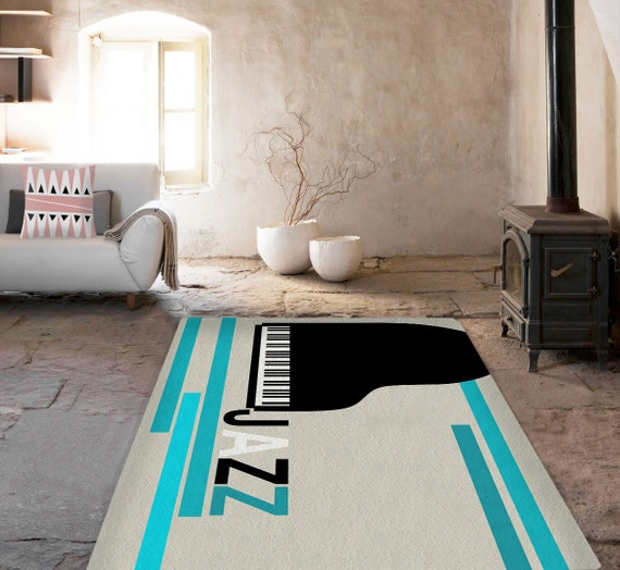 Items similar to rugs jazz rug piano carpet decorative for Jazz living room ideas