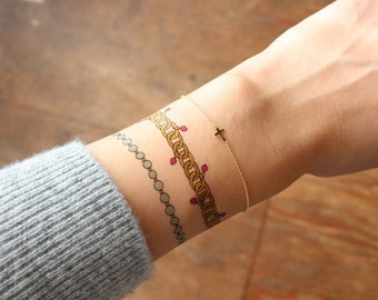 Skinny Bracelet Temporary Tattoo by Emma Kisstina