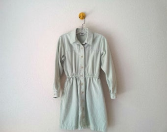 Twill Jumper Dress Sea-foam Green